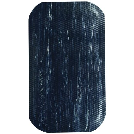 Hog Heaven Plush Anti Fatigue (M+A Matting Midnight Swirl Rubber Hog Heaven Anti-Fatigue Marble Top Mat - 3'L x 2'W x 5/8 H (448100023))