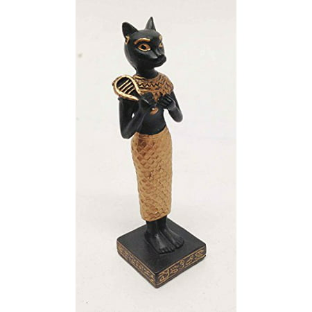 EGYPTIAN FELINE CAT GODDESS BASTET STATUE SMALL DOLL HOUSE MINIATURE 3