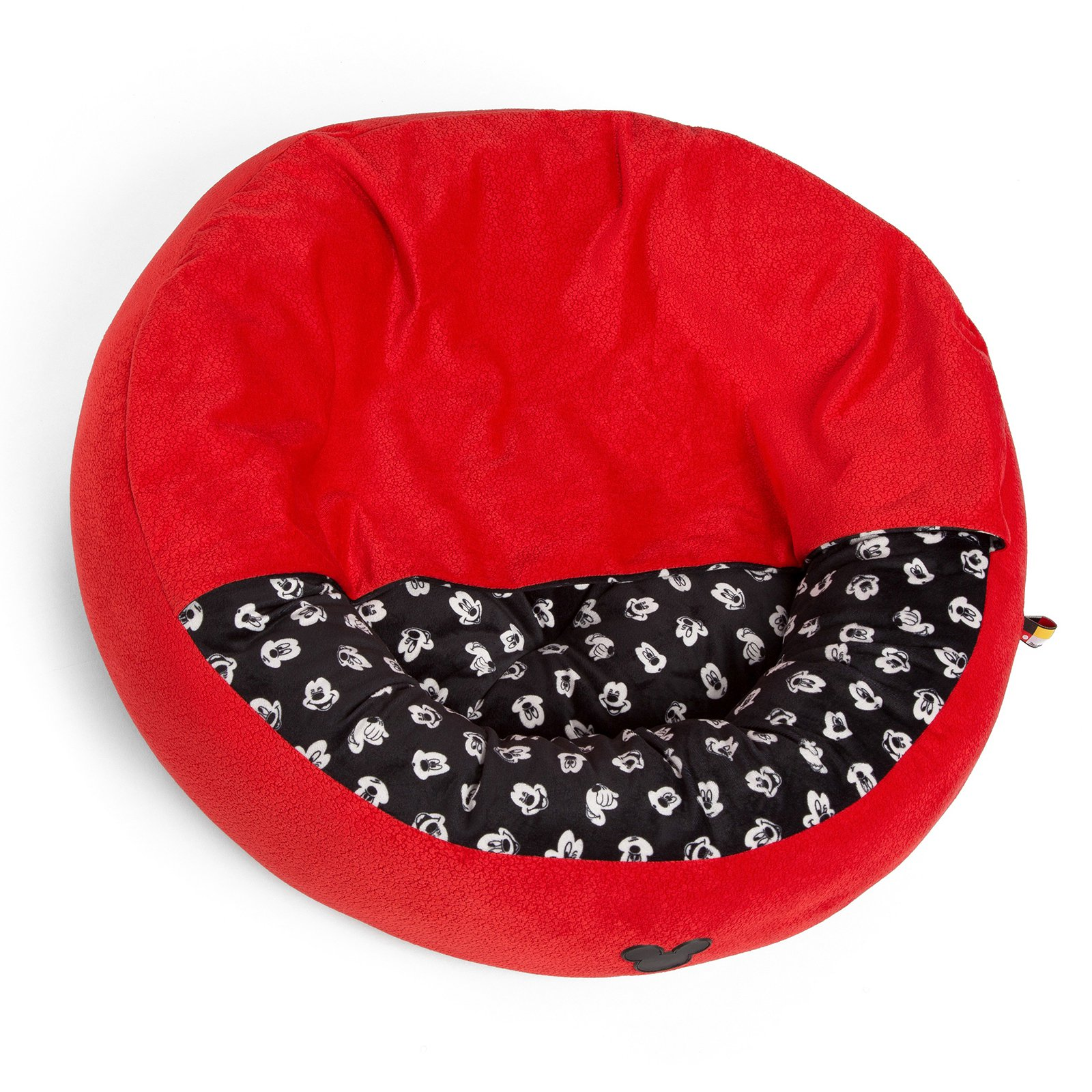 Disney Mickey Mouse Cozy Cuddler Pet Bed-Red