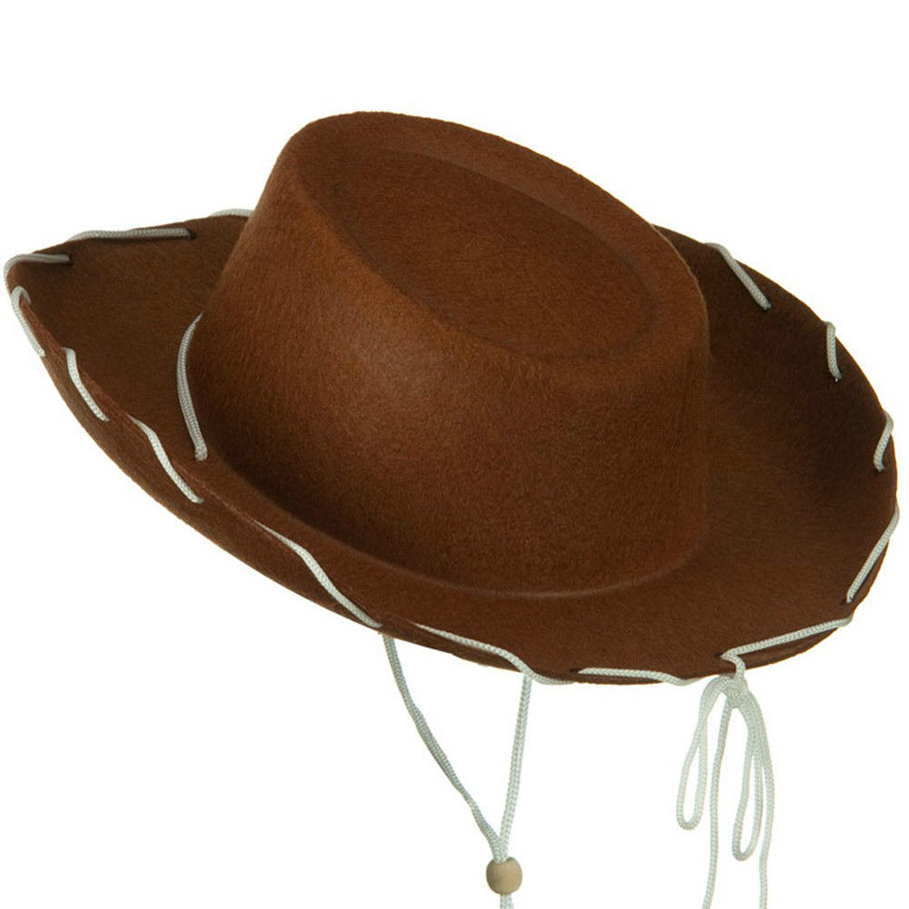 Brown Felt Cowboy Child Hat Woody Toy Story Cowgirl Sheriff Costume Movie Kids