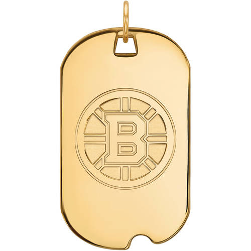 NHL Boston Bruins 14kt Yellow Gold Large Dog Tag