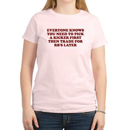 9d460d0922 CafePress - FANTASY FOOTBALL SHIRT, FUNNY Women's Pink T Shirt - Women's  Classic T-Shirt - Walmart.com