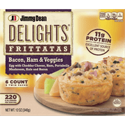 Jimmy Dean Delights Bacon, Ham & Veggies Frittatas, 6 Count (Frozen)