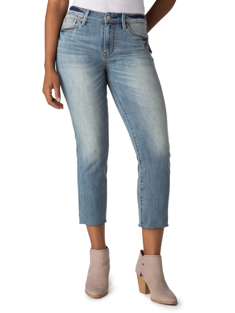 Women's High Rise Slim Cropped Jeans