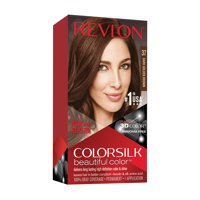 Revlon Colorsilk Beautiful Color, Permanent Hair Dye with Keratin, 100% Gray Coverage, Ammonia Free, 37 Dark Golden Brown