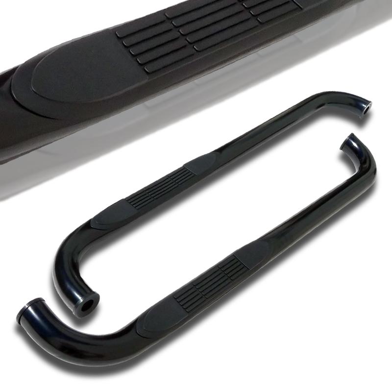 Spec-D Tuning 1998-2011 Ford Ranger Super Cab Side Step Nerf Bar S/S Running Boards Black 98 99 00 01 02 03 04 05 06 07 08 09 10 11 (Left + Right)