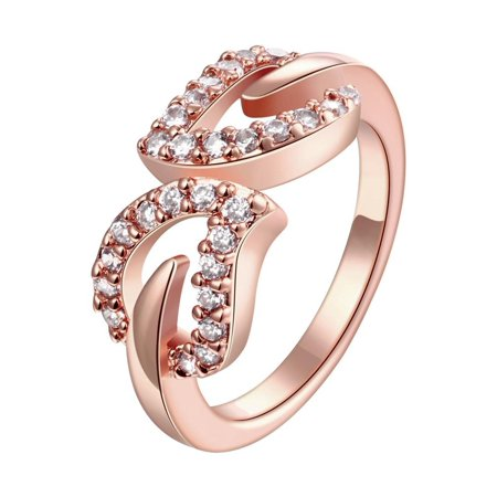 Aventura Jewellery Gold Plated Crystal Orbit Ring Size 6