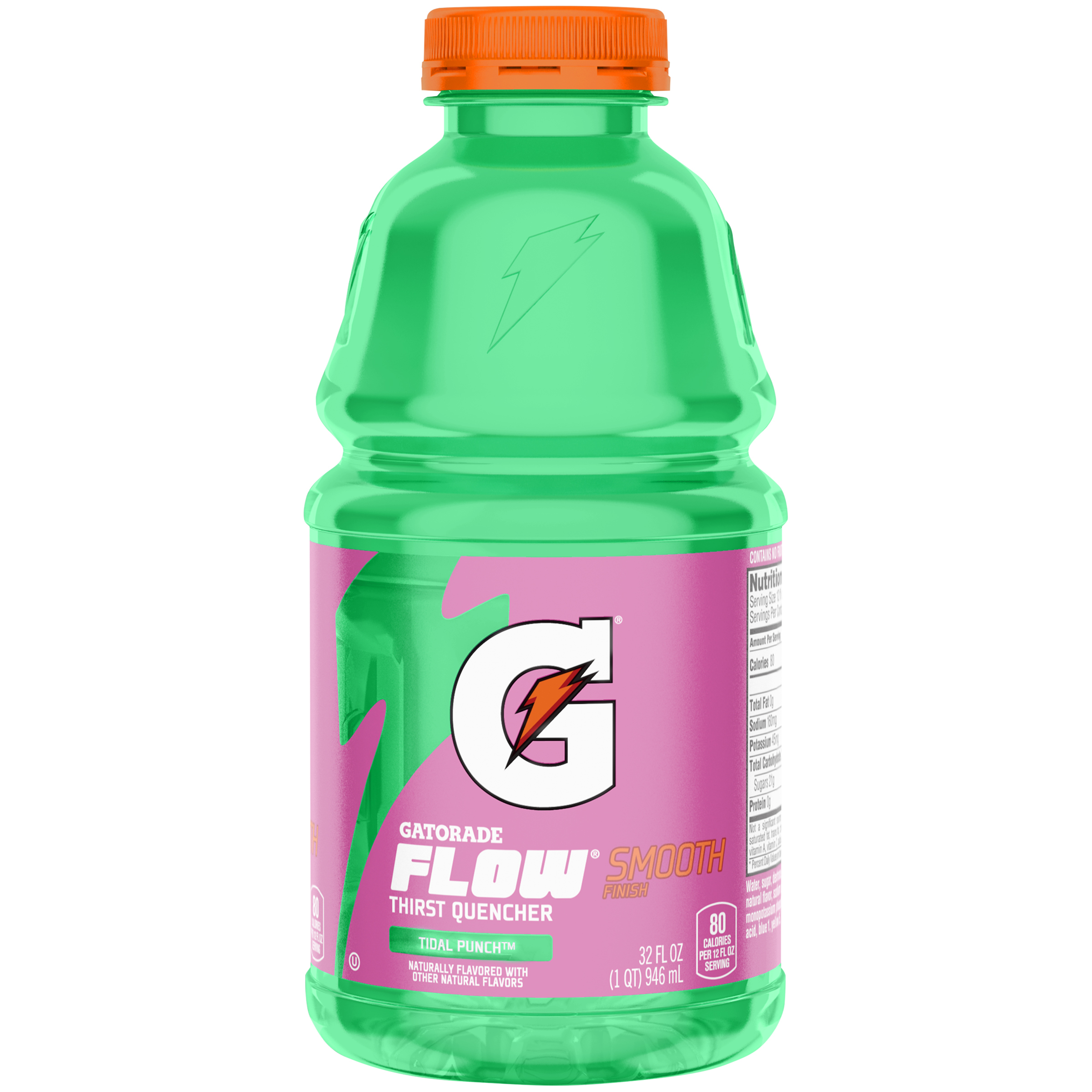 Gatorade Flow Smooth Finish Tidal Punch Thirst Quencher 32 fl. oz. Bottle