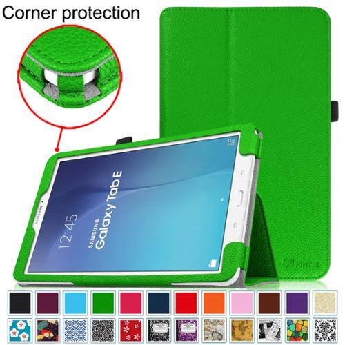 Samsung Galaxy Tab E 9.6 / Tab E Nook 9.6 Inch Tablet Folio Case - Fintie Slim Fit PU Leather Stand Cover, Green