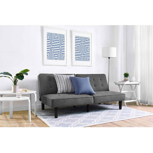 Mainstays Arlo Tufted Upholstered Futon Couch, Multiple Colors by Dorel Home Products
