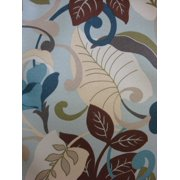 Antigua Dining Arm Chair in Royal Oak-Fabric:Blue Leaves