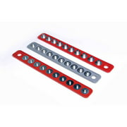 """Triton Products® MagClip 1/4"""" Drive 16-5/8"""" Red, 1/2"""" Drive 16-5/8"""" Red, 3/8"""" Drive 15-5/8"""" Gray Magnetic Socket Holder Strip Assortment"""