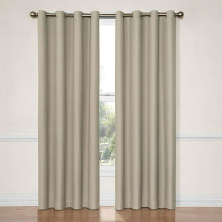 Eclipse Dane Grommet Blackout Energy-Efficient Curtain (Eclipse Curtains Microfiber Grommet Blackout Window Panel)