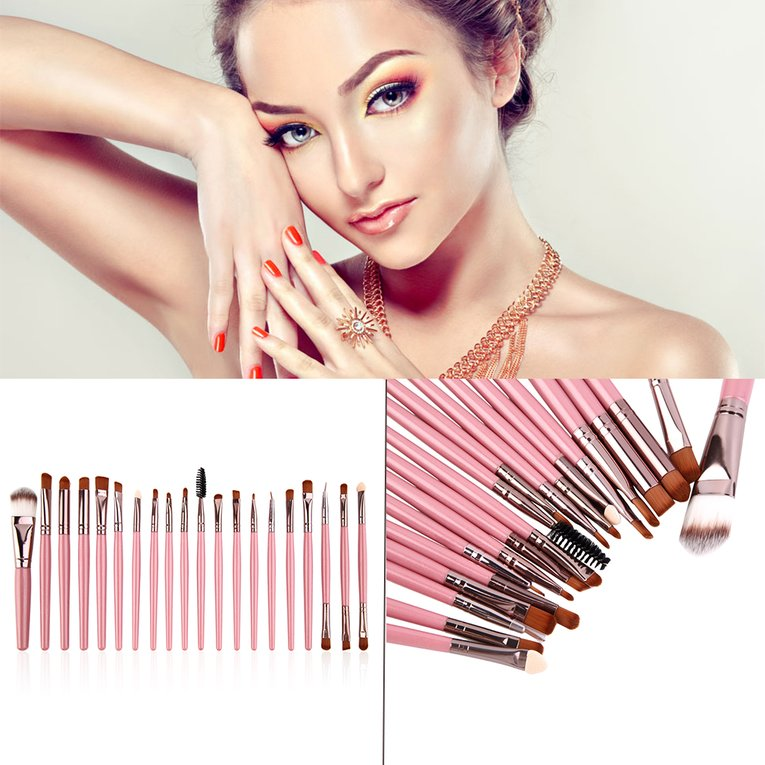 Makeup Brush Professional 20 Pieces Brushes Set Powder Eyeshadow Eyeliner Lip Brushes