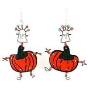 Creative Alternatives Dancing Girl Pumpkin Earrings