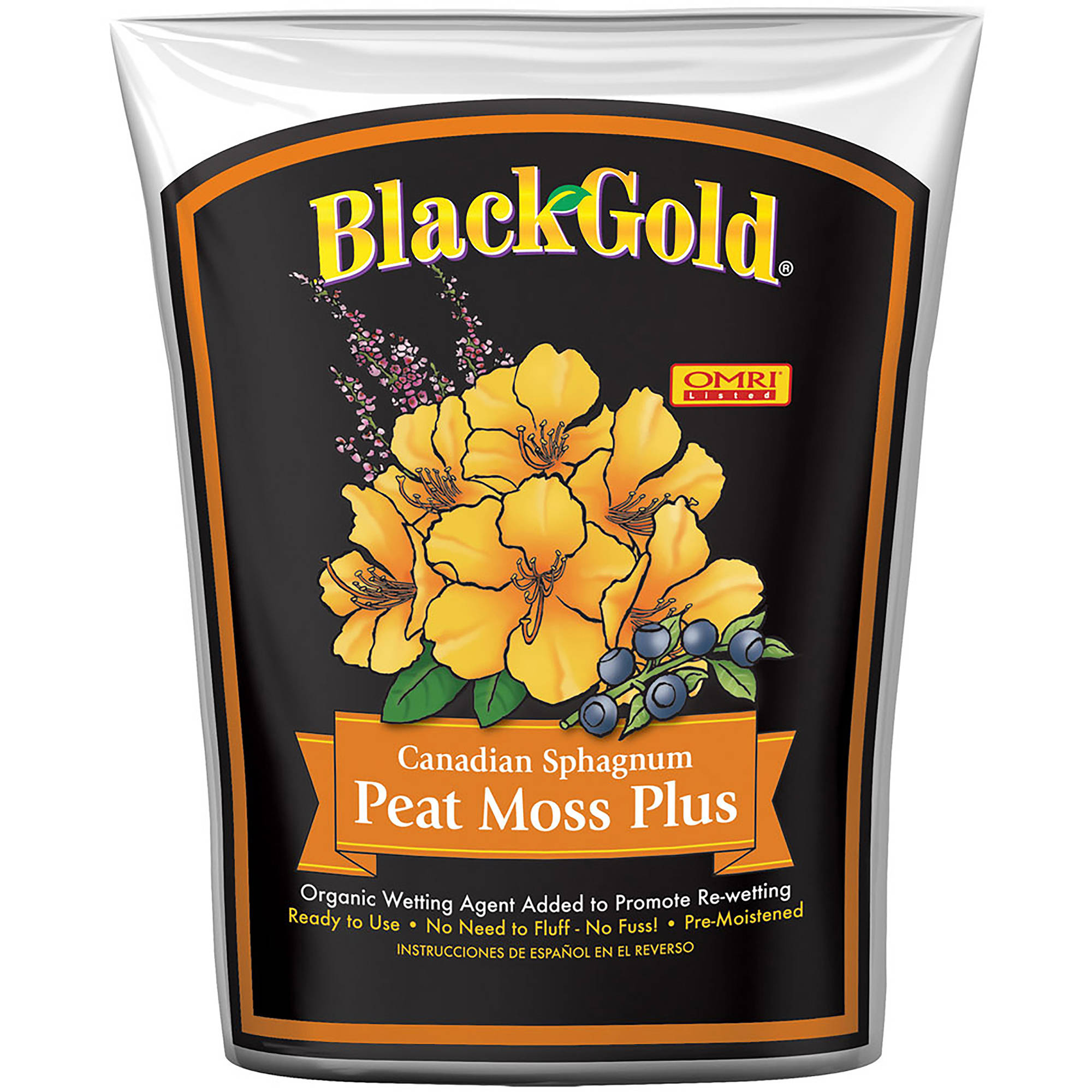 Black Gold Peat Moss Plus, 8 qt