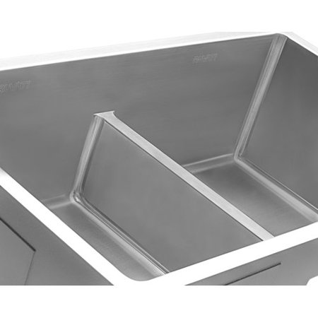 10 Undermount Kitchen Sink (Ruvati Gravena Low Aqua Divide 10'' L x 32'' W Double Basin Undermount Kitchen Sink )