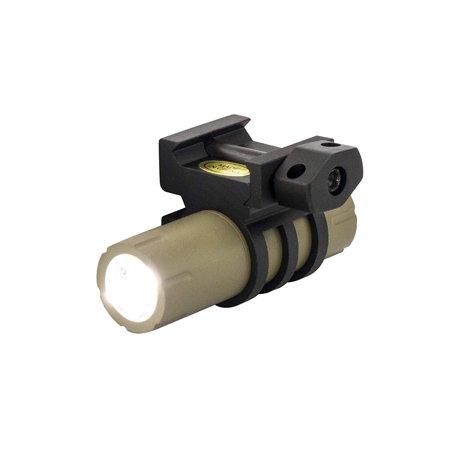100 Lumens Ultra-Compact Flashlight with Rail Mount and Detachable Remote Pressure Switch (Flat Dark Earth)](Flat Flashlight)