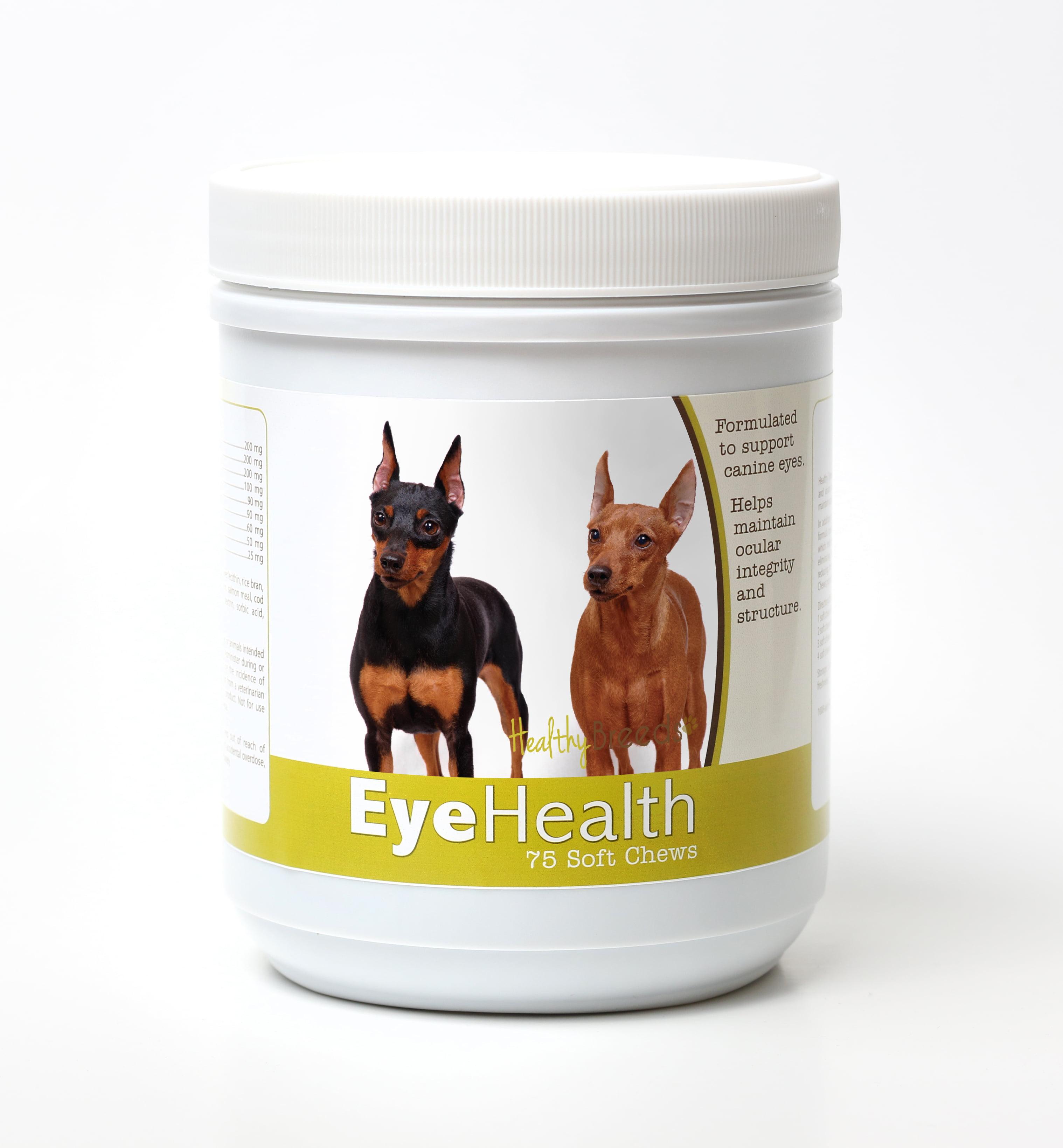 Healthy Breeds Dog Eye Health Support Soft Chews for Miniature Pinscher 75 Count