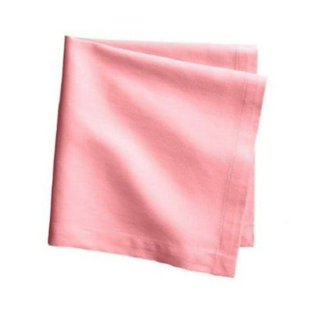 The Great American Store -Multipurpose Dinner Napkins Set of 6 (17 x 17) 600 Thread Count 100% Cotton Solid Pink - Perfect for Wedding / Banquet / Restaurant (Pink Napkins Fabric)