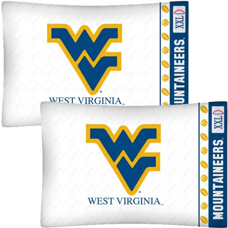 NCAA West Virginia Mountaineers Football 2-Pack Pillowcases