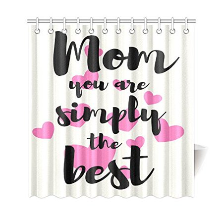 GCKG Love Quote Shower Curtain, Happy Mother's Day Polyester Fabric Shower Curtain Bathroom Sets 60x72 Inches - image 3 of 3