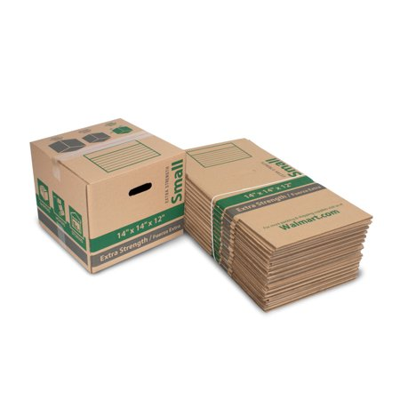 Small Extra Strength Recycled Moving Boxes 14L x 14W x 12H (15