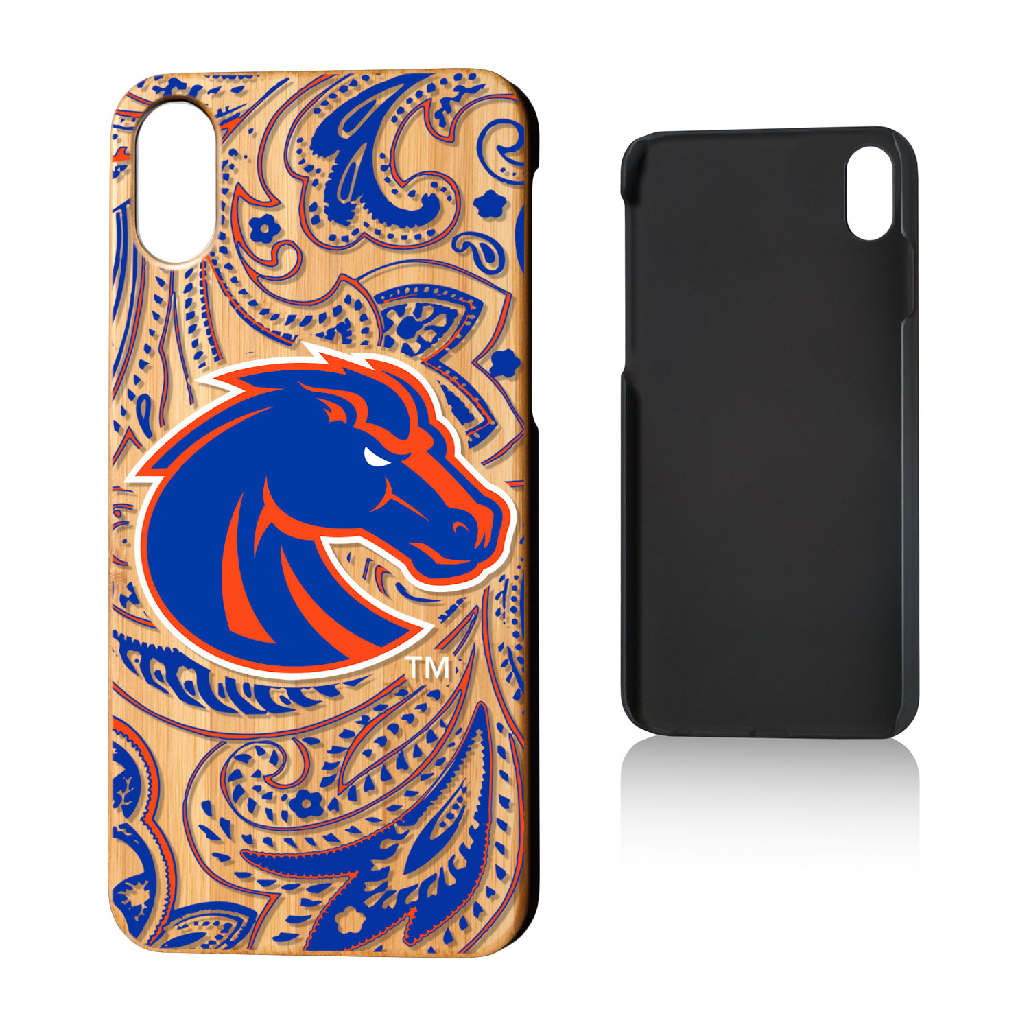 BSU Boise State Broncos Paisley Bamboo Case for iPhone X