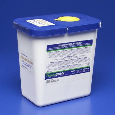 Con Hinge (MCK88202800 - Pharmaceutical Waste Container Pharmasafety 1-Piece 10H X 10.5W X 7.25D Inch White Base Hinged Lid, Application - Pharmaceutical.., By COVIDIEN )