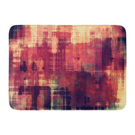 GODPOK Orange Aged Beige Rust Vintage Pattern Brown Abstract Purple Antique Rug Doormat Bath Mat 23.6x15.7 inch