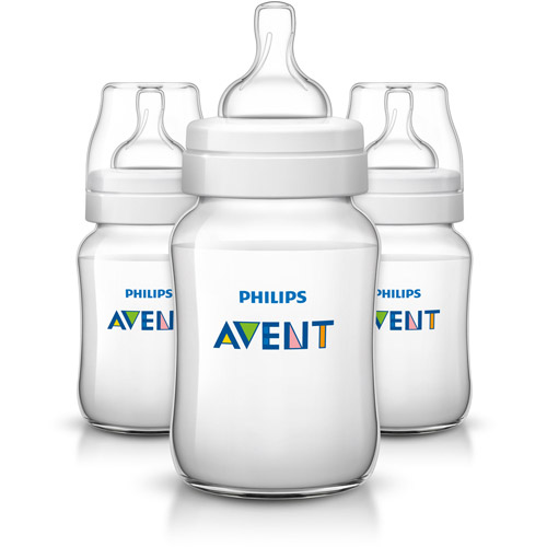 Philips Avent Classic Plus Baby Bottle, 9 Ounces, 3-Pack, BPA-Free, SCF563/37