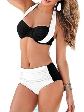 Womens Plus Size Push Up Padded Bikini Sets Beach High Waist Swimsuit Swimwear Beachwear Swimwear