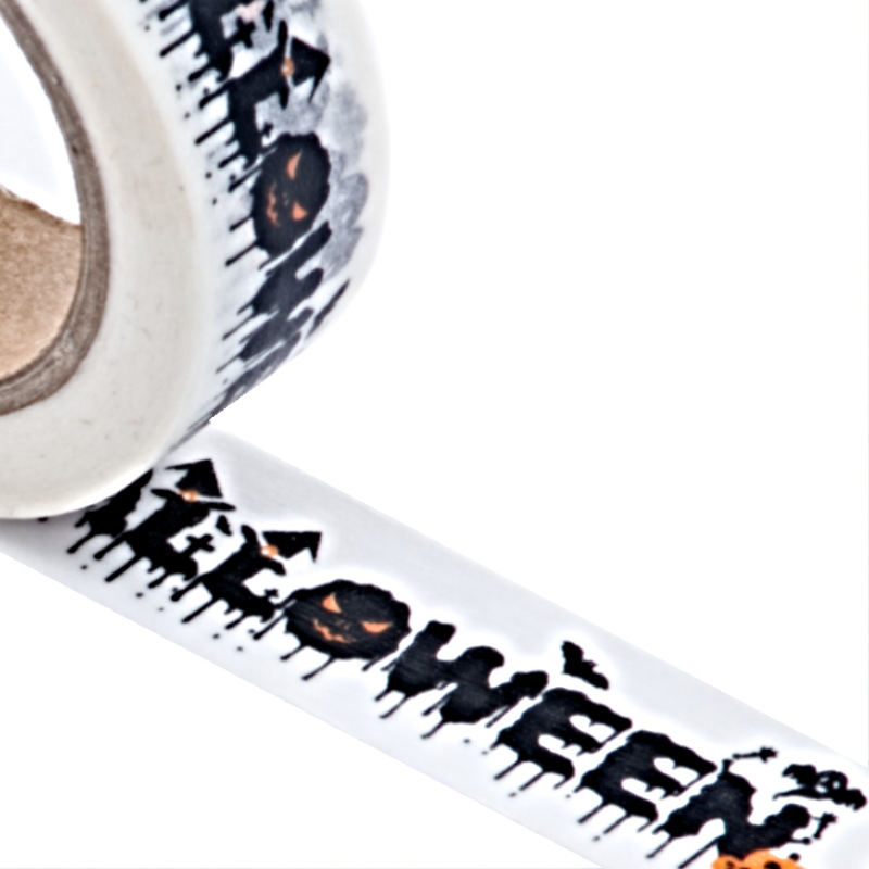 """9/16"""" X 10 Yards """"Halloween"""" Washi Tape by Paper Mart"""
