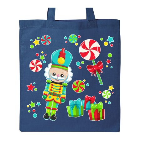 Holiday Nutcracker and Candy for Christmas Tote Bag (Nutcracker Candy)
