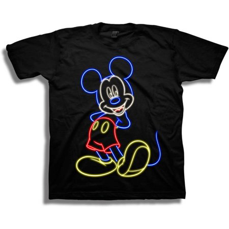 a196e1147fd2a Disney Mickey Mouse Neon Glow Short Sleeve Boys Graphic Tee T-Shirt