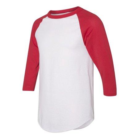 Augusta Sportswear - Three-Quarter Sleeve Fishtail Bottom Baseball Jersey