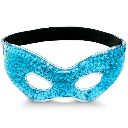 Bodyhealt Cooling Eye Ice Masks Gel for Headaches,Migraines and Stress Relief. Gel Eye mask-spa Gel Eye mask. Cold Pads-Warm Pads-Cool and Warm Compress, for Puffy Eyes and Dry Eyes - Blue ()