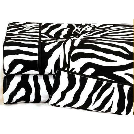 Queen Zebra Print Sheet Set (Zebra Velvet Print)