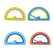 """Westcott Kids Soft Touch Protractor, 6"""", Anti-Microbial, Plastic, For School, Color Choice Will Vary, 1-Count"""