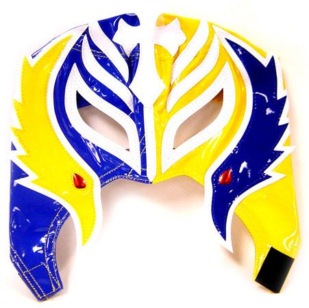 WWE Wrestling Rey Mysterio Replica Mask [Youth, Blue & Yellow] for $<!---->