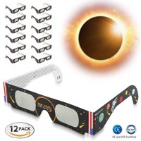 12-Pack BriteNway Premium Solar Eclipse Glasses