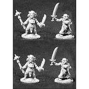 Reaper Miniatures Unpainted Dwarven Swordsmen 4P #06024 Dark Heaven Army Pack