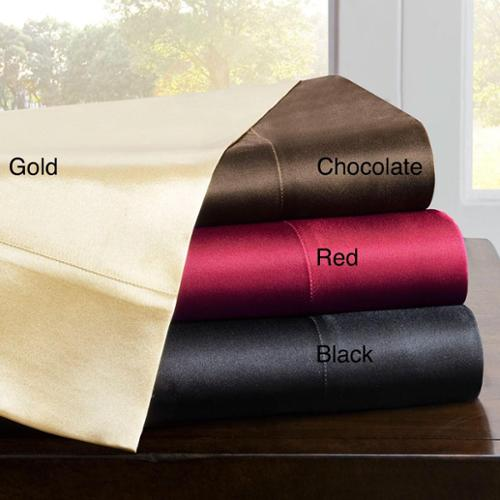 Premier Comfort Satin Full-size 6-piece Sheet Set Full- Red