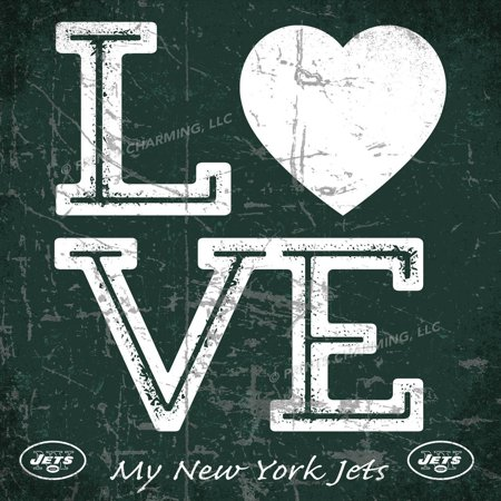 (13x13 Love My Team Square Color New York Jets Unframed Poster)