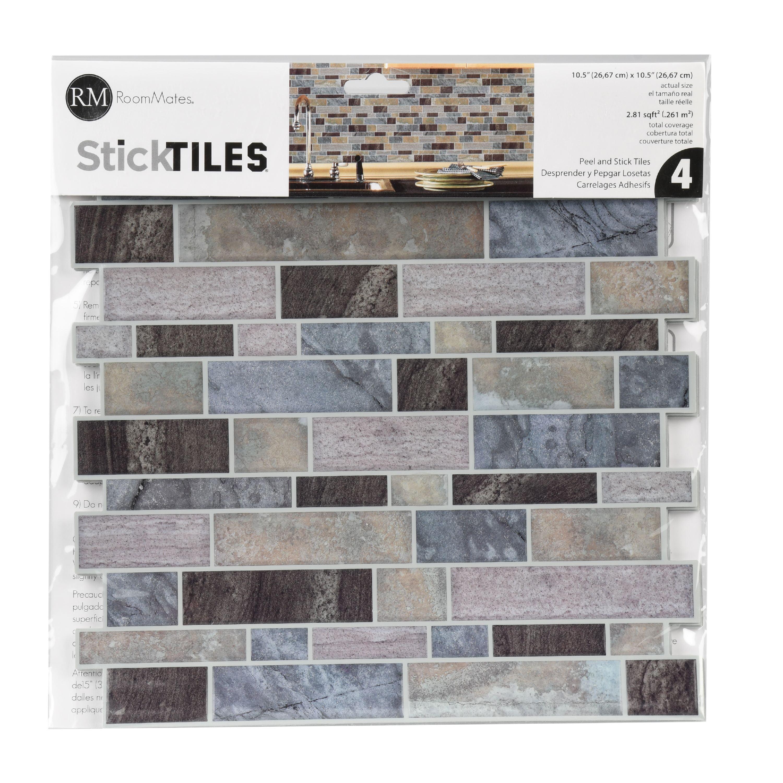 - RoomMates Blue Long Stone Tile Peel And Stick Backsplash - Walmart.com -  Walmart.com