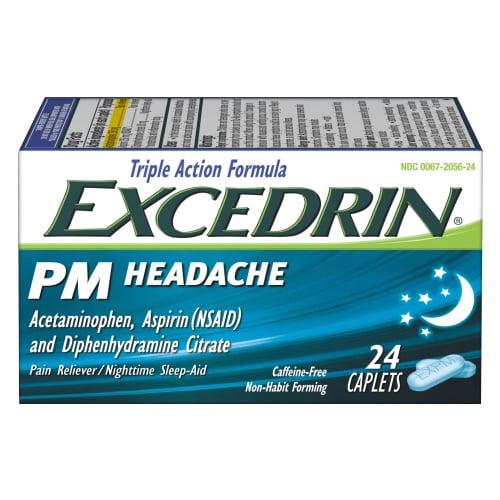 Excedrin® PM Nighttime Sleep-Aid and Headache Pain Relief Caplets 24 ct Box