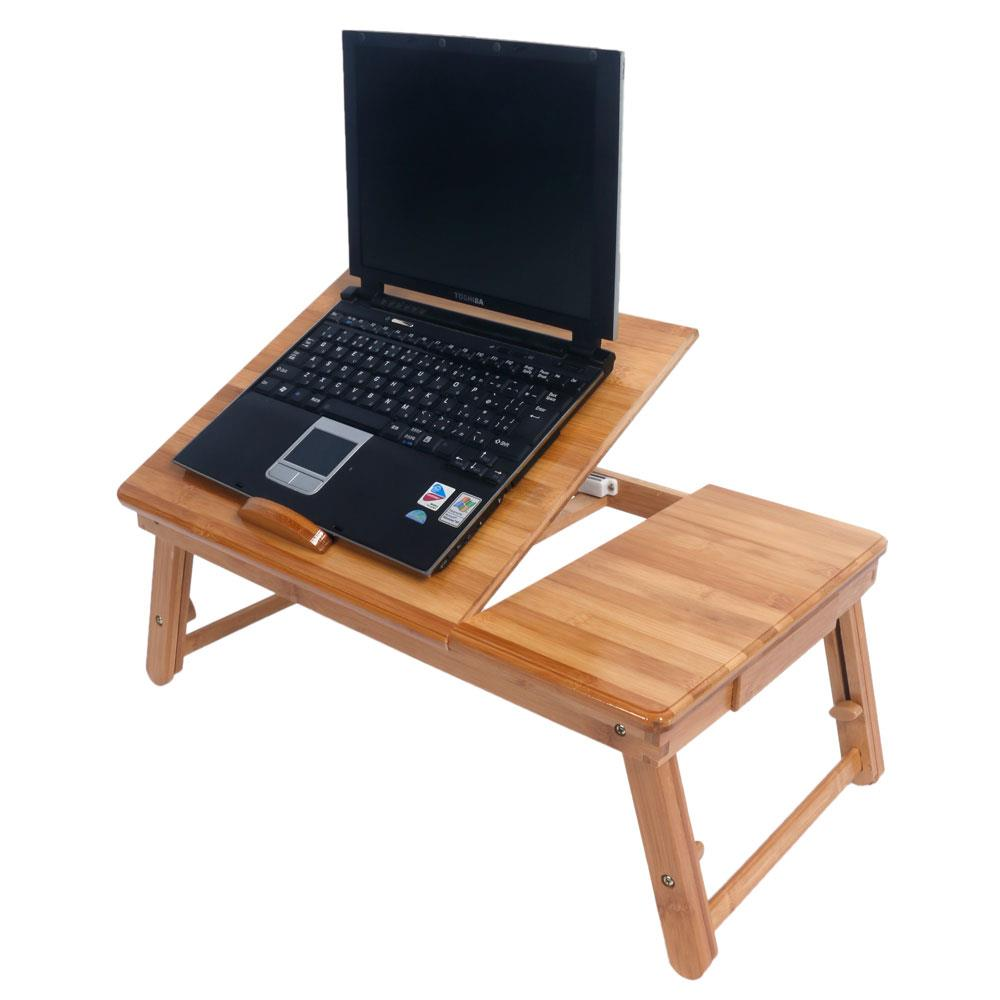 Ktaxon Bamboo Portable Laptop Notebook Computer Desk Bed Tray Stand Foldable Table Hot