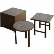 3-Pc Wicker Table Set