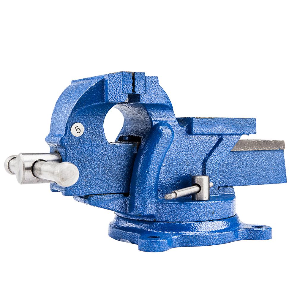 "Zimtown 5"" Mechanic Bench Vise w/Anvil (Swivel) Table Top Clamp Press Locking Swivel Base Heavy Duty"