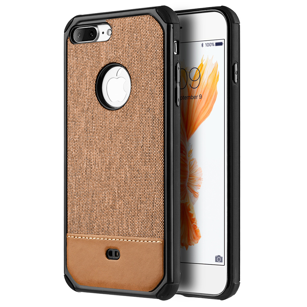 iPhone 7 Plus Case, Premium Hard TPU Hybrid Protective Cover Shockabsorbant Back Case - Brown for iPhone 7 Plus, lightweighted, fashionable look,User-friendly